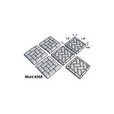 Hirst Arts Mold #268 - Brickwork Floor Tile Mold - Cast in Resin