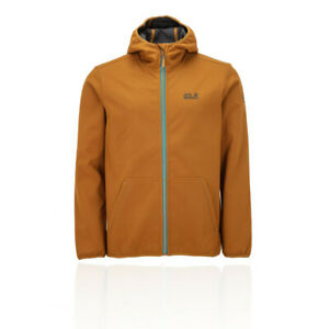Jack Wolfskin Mens Essential Peak Jacket Top Orange Sports Outdoors Full Zip