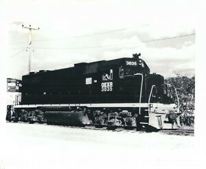 B & W Train Photograph GEXR Goderich Exeter Railroad 3835 Train 4 x 5 Picture