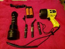 Underwater scuba diving flashlight lot