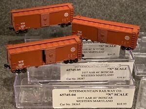 3 N Scale-Intermountain Western Maryland 1937 AAR 40' Boxcars 65745