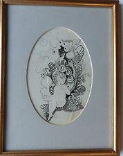 KATIE BLACKMORE RBA ASWA (FL1913-1950) ORIGINAL SIGNED PEN & INK DRAWING C1920'S