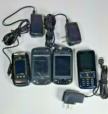 Lot of 4 Working Cell Phones Samsung Cricket Alltel Verizon Htc Verizon Flip