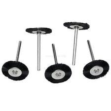 "5Pcs 25mm Nylon Bristle Wheel Wire Brushes 1/8"" Shank Dremel Rotary Tool (114)"