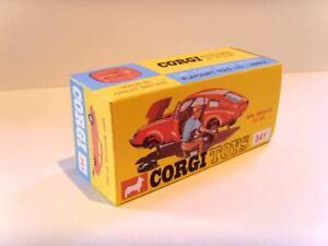 CORGI TOYS No. 341 - MINI MARCOS GT.  Superb custom/ reproduction display box.