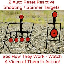 Shooting Reactive Steel Spinner Targets and Auto Reset Bullseye Gun Range .22 LR