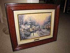 "Thomas Kinkade ""Village Christmas"" Canvas 12""x16"" Canvas 248/980"