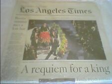 MICHAEL JACKSON Death MEMORIAL LA Los Angeles TIMES NEWSPAPER July 8th 2009 7/8