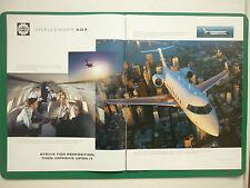 12/1997 PUB AVION BOMBARDIER CHALLENGER 604 BUSINESS JET BIZJET ORIGINAL ADVERT