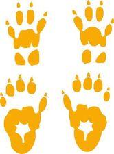 woodchuck  track /groundhog footprint sticker /marmot paw print decal