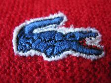 Vintage Izod Lacoste Long Sleeve 100% Acrylic Bright Red V-Neck Sweater Large