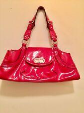 Franco Sarto Women Red Patent Leather Hand Bag /shoulder bag medium, red