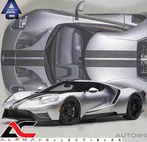 AUTOART 12108 1:12 FORD GT 2017 (INGOT SILVER/BLACK STRIPES) SUPERCAR