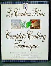 Le Cordon Bleu Complete Cooking Techniques Indispensable Reference 1st US Ed
