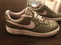 Rare Nike Air Force 1 Premium Sneaker Gold Pink Shoes Size US 6.5