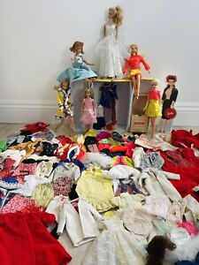 Lot 60's & 70's Barbies & Friends Dolls Plus Clothing Wigs Shoes ~ 150 +