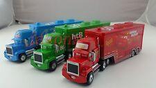 Disney Pixar Cars Mack Lightning McQueen & Chick Hicks & King Truck Car Loose