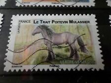 FRANCE 2013, timbre  AUTOADHESIF 819 CHEVAL POITEVIN HORSE oblitéré, VF STAMP