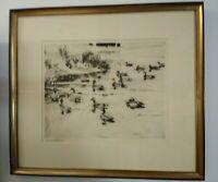 Ducks At Play Frank W. Benson Original Etching 1923 Pencil Signed  Read Descrip.
