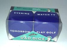 Decisión dados para papá 2 Cubos de Madera Gigante Azul Tiempo Libre Ideas Regalo Padres