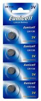 4 x CR1130 3V Lithium Knopfzelle 48 mAh ( 1 Blistercard a 4 Batterien ) Eunicell