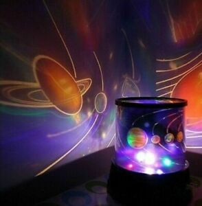 KIDS BABY GLOW IN THE DARK UNIVERS NIGHT LIGHT LAMP PROJECTOR SOLAR SYSTEM
