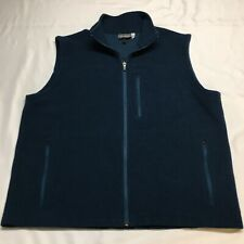Ibex Teal Blue Stretch Zque Merino Wool Scout Made In Usa Vest Mens Xl Arlberg