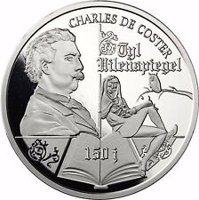 Belgien 10 Euro Münze Charles de Coster Silber 2017 PP Till Eulenspiegel