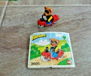 Vintage Lego Fabuland 3605 Ricky Raccoon and his Scooter set 1979 w/instructions