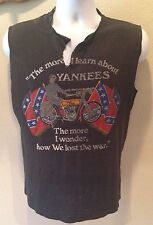 HARLEY DAVIDSON RARE 1985 More I Learn about YANKEES Shirt THRASHED PAPER THIN