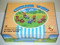New-Ray 1991 WHEELBARROW KIDS Wind Up Toys Display Box (12 Total)
