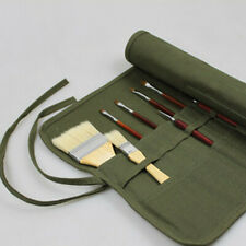 Artist Draw Oil Paint Brush Holder Roll Up Canvas Bag Storage Case Organizer UK