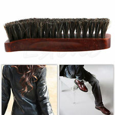1pc Professional Wooden Handle Horse Hair Bristle Boot Shoes Shine Buffing Brush