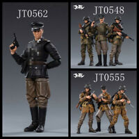 Joytoy 1/18 7Pcs Soldier WWII German Army Camouflage Trio Officer Figure Model