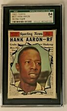 1961 TOPPS ALL STAR #577 HANK AARON BRAVES SGC 84 PSA 7