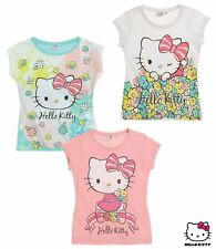 Girls Hello Kitty Tee Shirt Short Sleeve T Shirt Ages 2 3 4 5 6 7 8 Years 5-6 Years MINT Green