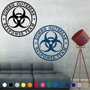 Zombie Outbreak Response Team Decal Sticker Symbol Wall Door Room House Decor
