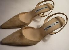 ENRICO ANTINORI NUDE SUEDE SLING BACK SHOES 37.5