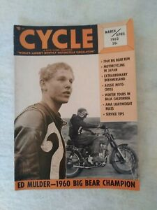 VINTAGE CYCLE MAGAZINE MOTORCYCLE MARCH/APRIL 1960 HARLEY ED MULDER BIG BEAR RUN