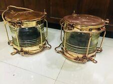 Vintage Nautical Marine Ship Brass Japanese Electric lamp 100% original 2 pieces