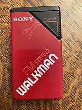 Vintage Red Sony Walkman Fm Stereo Parts