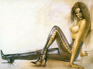 Beautiful Nude Erotic Pin Up Art Prints Postcard Collectable