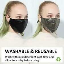 MASK Glitter Glamour Bling Ladies QUALITY Reusable Washable Sequined Face Masks
