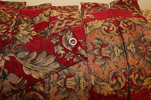 CROSCILL IMPERIAL CHENILLE DRAPERY TIEBACKS - set of 2