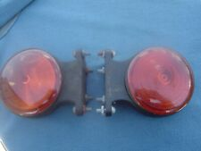 2 VINTAGE RUBBOLITE MODEL 36 INDICATOR LAMPS LIGHTS TRUCK OR LORRY NOS