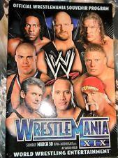 WWE WRESTLEMANIA 19 SOUVENIR ARENA EDITION PROGRAM 2003 SAFECO FIELD SEATTLE WA