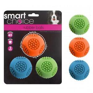 Dog Tennis Balls Squeak Rubber Dental Game Of Fetch Pack Of 3
