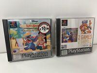PS1 Disney Games x3 Donald Duck Quack Attack Lilo & Stitch Trouble In Paradise