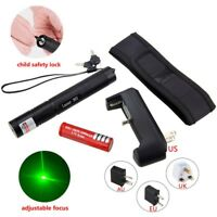 10 Miles 532nm Verde Penna Puntatore Laser Regolabile 1mw 18650 Batteria Luce