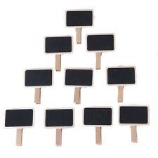 10 Mini Wood Clip On Blackboard/Chalkboard For Wedding/Party Lolly Buffet TableH